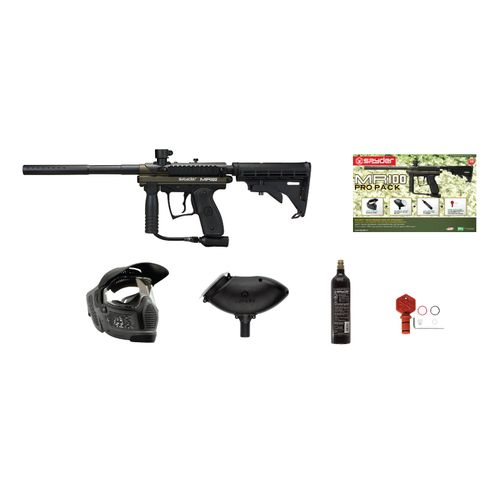 Spyder MR100 Pro .68 Caliber Paintball Marker with Car Stock