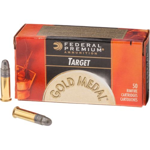 Federal Premium® Gold Medal® .22 LR 40-Grain Rimfire Rifle Ammunition