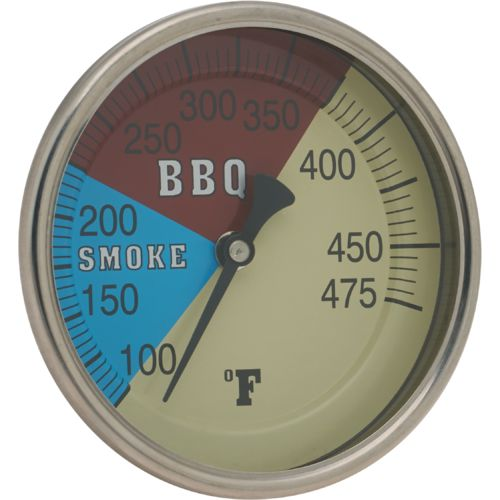Old Country BBQ Pits 4' Adjustable Temperature Gauge