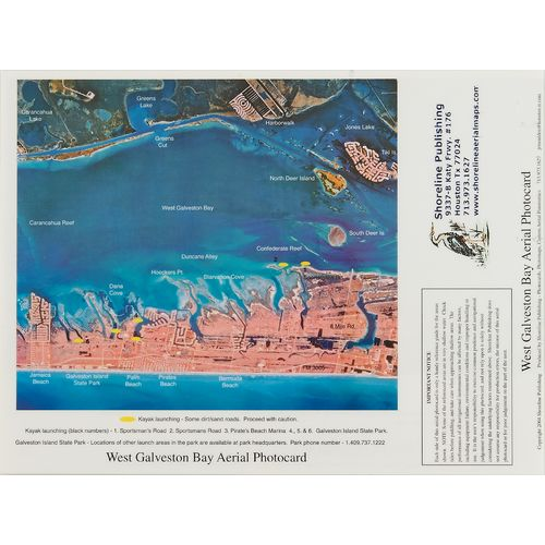 Shoreline publishing aransas bay and mesquite bay aerial for Fishing spots in galveston