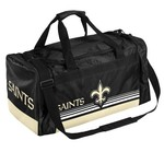 Forever Collectibles™ New Orleans Saints Medium Striped Core Duffel Bag