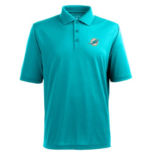 Antigua Men's Miami Dolphins Piqué Xtra-Lite Polo Shirt