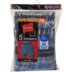 Hanes Men's Plaid Boxers 5-Pack