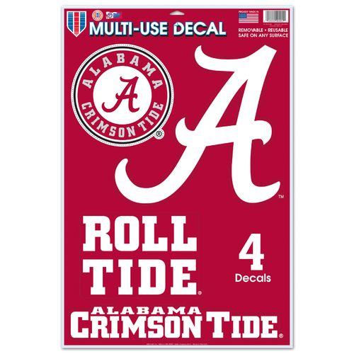 WinCraft University of Alabama Multi-Use Decals 4-Pack - view number 1