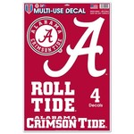 WinCraft University of Alabama Multi-Use Decals 4-Pack