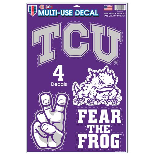 WinCraft Texas Christian University Multiuse Decals 4-Pack