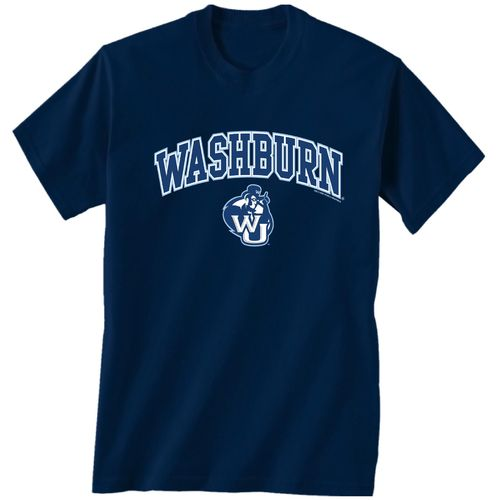 New World Graphics Men's Washburn University Arch Mascot T-shirt