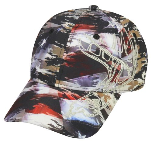Outdoor Cap Men's Camo Deer Skull Ball Cap
