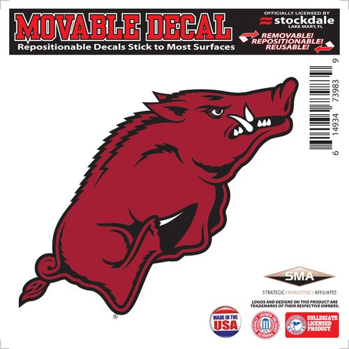"Stockdale University of Arkansas 6"" x 6"" Decal"