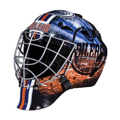 Franklin Boys' Edmonton Oilers GFM 1500 Goalie Face Mask - view number 1