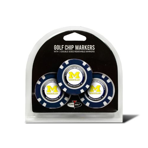 Team Golf University of Michigan Poker Chip and Golf Ball Marker Set