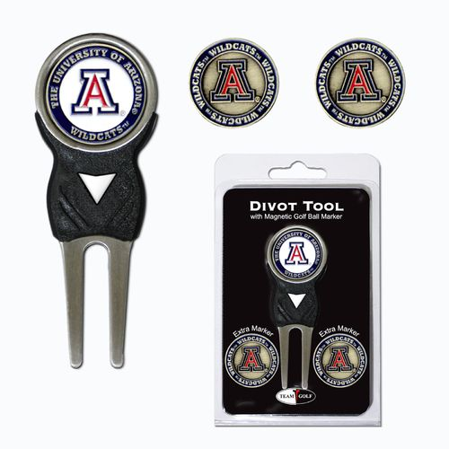Team Golf University of Arizona Divot Tool and Ball Marker Set - view number 1