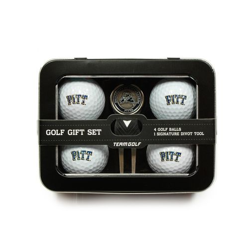 Team Golf University of Pittsburgh 4-Ball Tin Gift Set