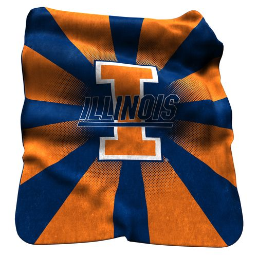 Logo™ University of Illinois Raschel Throw