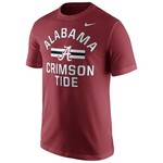 Nike Men's University of Alabama Short Sleeve Cotton T-shirt
