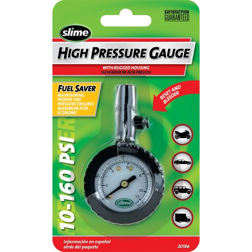 Slime 10 - 160 PSI High-Pressure Gauge