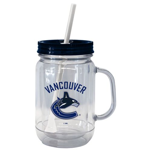 Boelter Brands Vancouver Canucks 20 oz. Handled Straw Tumblers 2-Pack
