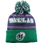 adidas Women's Dallas Mavericks Cuffed Knit Pom Hat