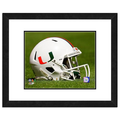 Photo File University of Miami Helmet 16' x 20' Matted and Framed Photo