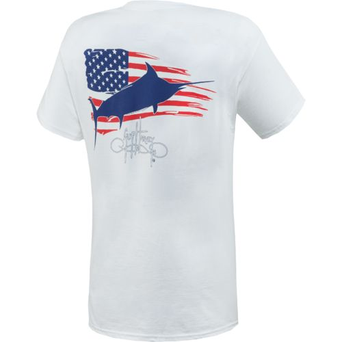 Guy Harvey Adults' Patriot Pocketed Graphic T-shirt