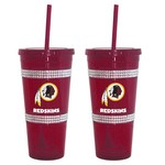 Boelter Brands Washington Redskins 22 oz. Bling Straw Tumblers 2-Pack