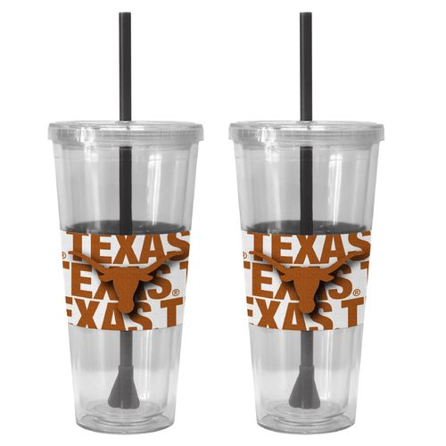 Boelter Brands University of Texas Bold Neo Sleeve 22 oz. Straw Tumblers 2-Pack