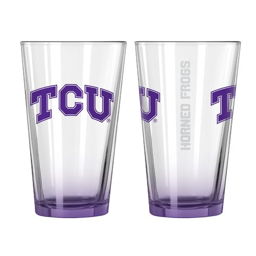 Boelter Brands Texas Christian University Elite 16 oz. Pint Glasses 2-Pack