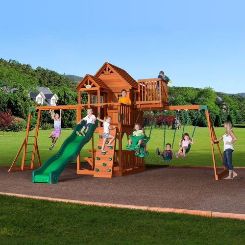 Backyard Discovery™ Skyfort II Wooden Swing Set - view number 2