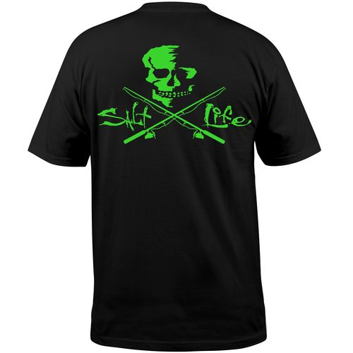 Salt Life™ Men's Neon Skull and Poles Pocket T-shirt