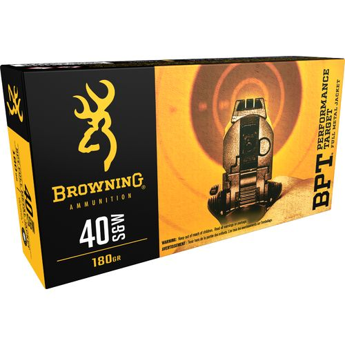 Browning Performance Target .40 S&W 180-Grain Centerfire Pistol Ammunition - view number 1