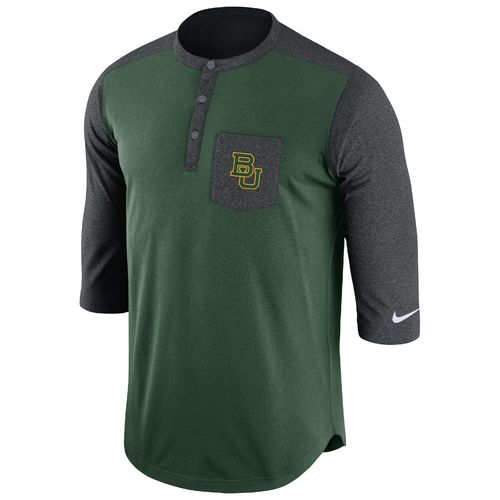 Nike Men's Baylor University Dri-FIT Touch Henley