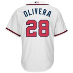 Majestic Men's Atlanta Braves Héctor Olivera #28 Cool Base Replica Jersey