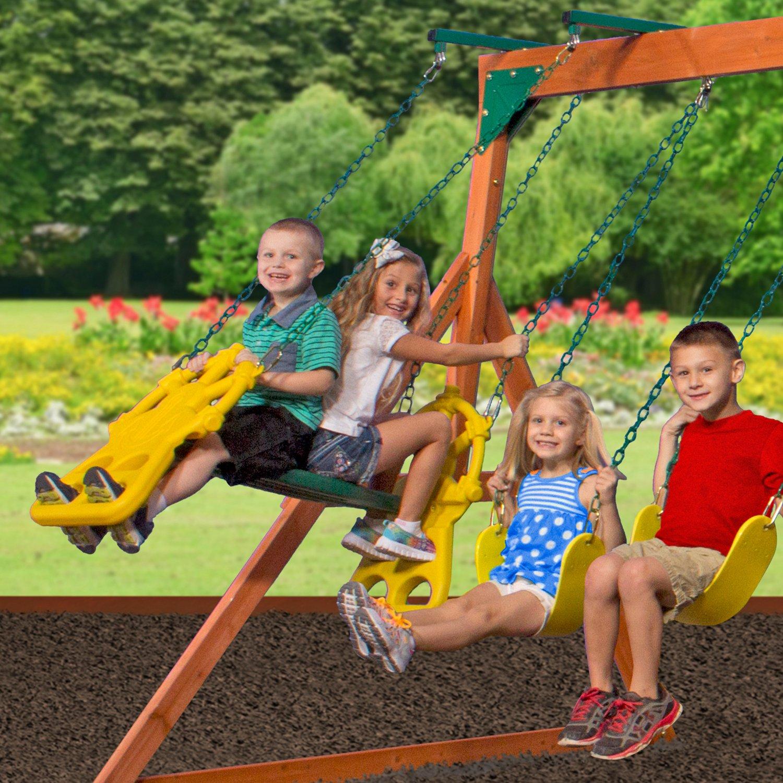 backyard discovery atlantis wooden swing set academy