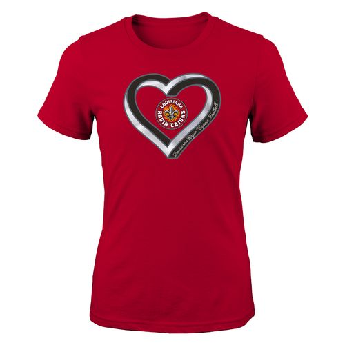Gen2 Girls' University of Louisiana at Lafayette Infinite Heart Fashion Fit T-shirt