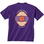 New World Graphics Women's Clemson University Pattern Monogram T-shirt