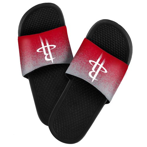 Forever Collectibles™ Men's Houston Rockets Textured Sport Slides