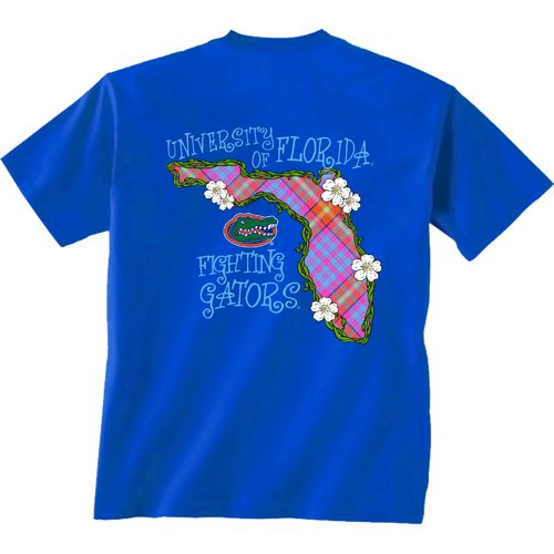 New World Graphics Women's University of Florida Bright Plaid T-shirt