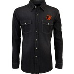 Antigua Men's Baltimore Orioles Long Sleeve Button Down Chambray Shirt - view number 1