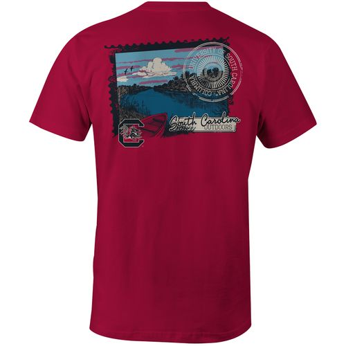 Image One Men's University of South Carolina River Scene Comfort Color T-shirt