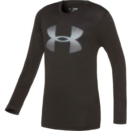 Under Armour Boys' Tech Novelty Big Logo Long Sleeve T-shirt