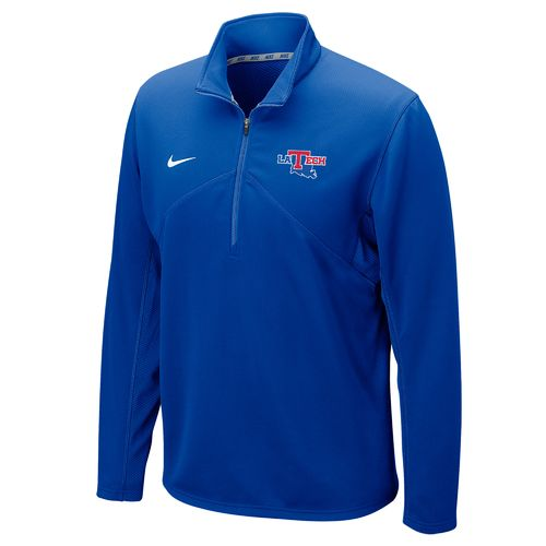 Nike™ Men's Louisiana Tech University Dri-FIT 1/4 Zip Training Pullover