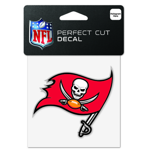 "WinCraft Tampa Bay Buccaneers 4"" x 4"" Perfect Cut Decal"