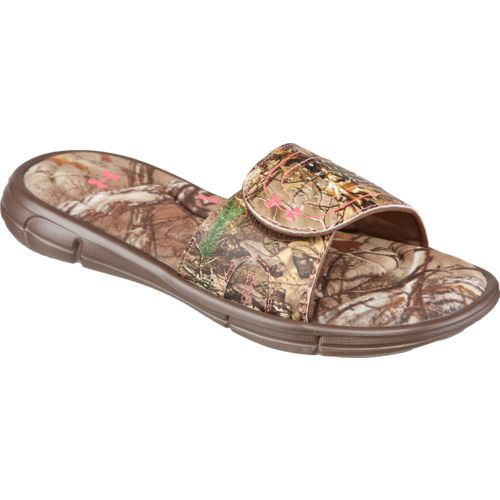 Under Armour Girls' Ignite Camo VII Sports Slides - view number 2