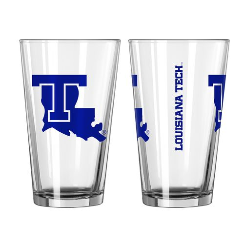 Boelter Brands Louisiana Tech University Game Day 16 oz. Pint Glasses 2-Pack