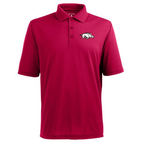 Antigua Men's University of Arkansas Piqué Xtra Lite Polo Shirt