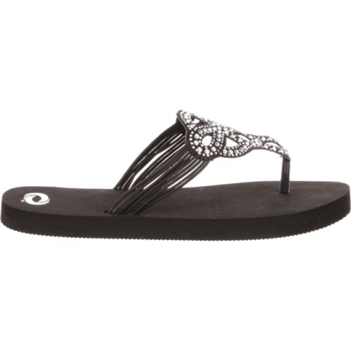O'Rageous Women's Elastic Bling Sandals