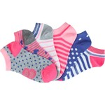 BCG Girls' Hearts and Stripes No-Show Socks 6 Pairs - view number 3