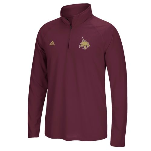 adidas Men's Texas State University Sideline Basic Logo 1/4 Zip Pullover