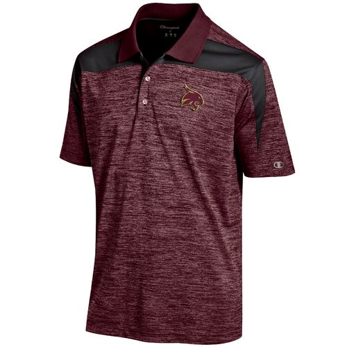 Champion™ Men's Texas State University Synthetic Colorblock Polo Shirt