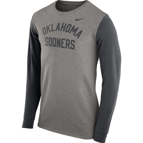 Nike Men's University of Oklahoma Heavyweight Elevated Essentials Long Sleeve T-shirt